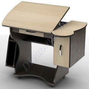 Компьютерный стол СУ-2к (на колесной базе) (АКМ)