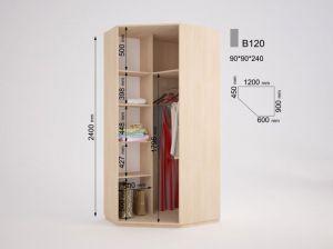 Угловой шкаф О-120 (ДОМ)