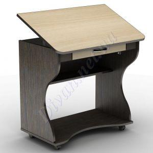 Компьютерный стол СУ-1к (на колесной базе) (АКМ)