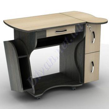 Компьютерный стол СУ-3к (на колесной базе) (АКМ)