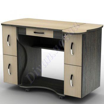 Компьютерный стол СУ-4к (на колесной базе) (АКМ)