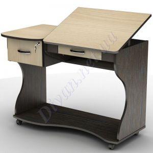 Компьютерный стол СУ-5к (на колесной базе) (АКМ)