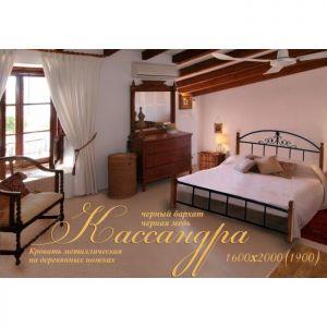 Кровать на деревянных ножках Кассандра (Металл Дизайн)