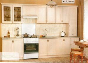 Кухня Оля Люкс 2.6 м (ясень шимо) (БМФ)