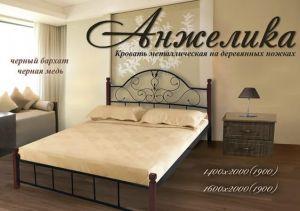 Кровать на деревянных ножках Анжелика (Металл Дизайн)