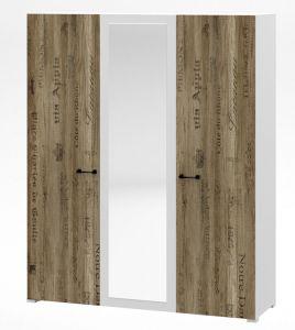 Шкаф 3-дверный Соломон с зеркалом СО-09