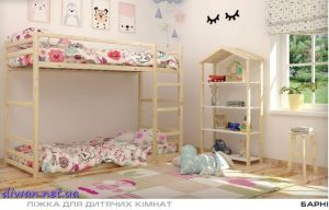 Кровать двухъярусная Барни (Мебигранд)