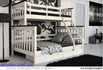Кровать двухъярусная Скандинавия (Мебигранд)