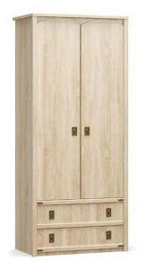 Шкаф распашной Валенсия 2Д 2Ш Мебель-Сервис