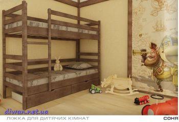 Кровать двухъярусная Соня (Мебигранд)
